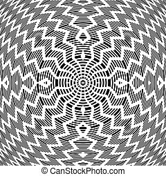 Abstract op art rotation pattern.