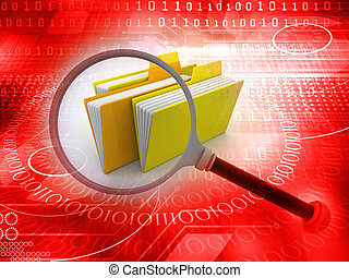 folder search concept, abstract technology background