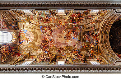 Church of St Ignatius of Loyola - Fresco on ceiling of...