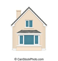 Detailed house icon isolated on white background