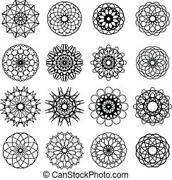 Round Ornament Set - Arabic round ornament set. Vector...