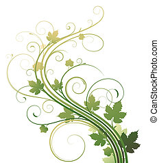 floral background -  illustration of style Floral Background