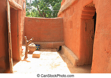 African house - Interior of a african house in Mali