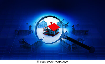 Real estate concept , house search