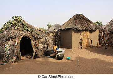 African village - Housing of a typical African village in...