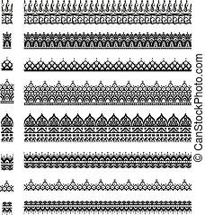 Seamless brush, pattern for design