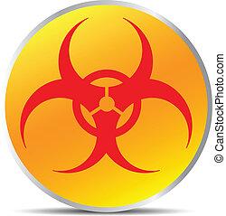 Biohazard sign. Illustration on white background for design