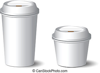 White Paper Cup vector