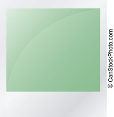 green photo isolated on white