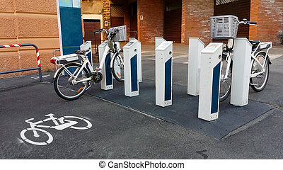 electric bicycles - bicycle rental service subscription as...