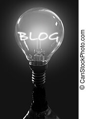 Blog lamp social media concept
