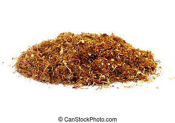 Tobacco -  A piece of tobacco isolated on white background