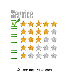great service rating illustration design over a white...