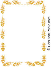 Frame with ear of wheat.  - Brown frame with ear of wheat.