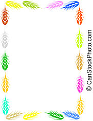 Frame with ear of wheat. - Colorful frame with ear of wheat....