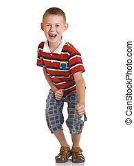 The child - The boy represents readiness for active actions