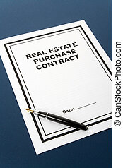 Real Estate Purchase Contract, business concept