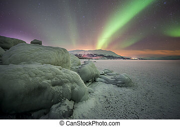 Northern lights - A beautiful northern lights in Sweden.