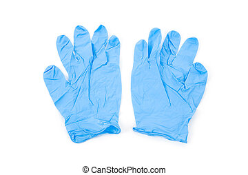 Blue Glove with white background