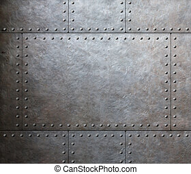 metal armor plates background
