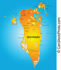 Bahrain - Kingdom of Bahrain vector color map