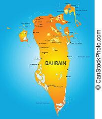 Bahrain - Kingdom of Bahrain vector color map