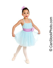 Child Ballet Dancer in pastel Recital Costume