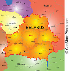Belarus - Vector color map of Belarus country