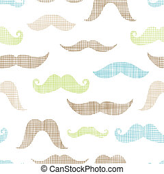 Mustaches textile textured seamless pattern background -...