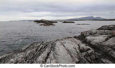 Norway island Averoy landscape