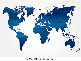 Abstract background with map of the world