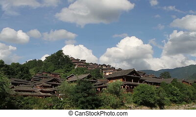 Wooden traditional Miao residence - Wooden traditional Miao...