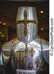 medieval armor made of wrought iron