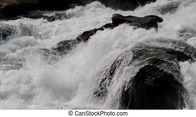 The Rushing Water in Baishui River