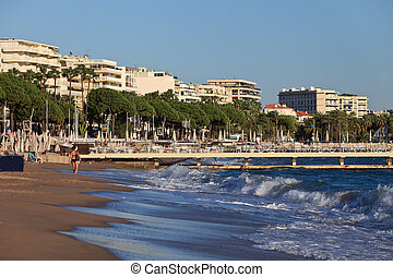 city of Cannes - image shows the cosmopolitan city of...