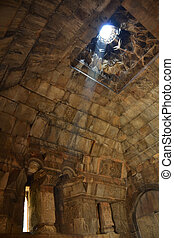 Inside medieval Armenian monastery