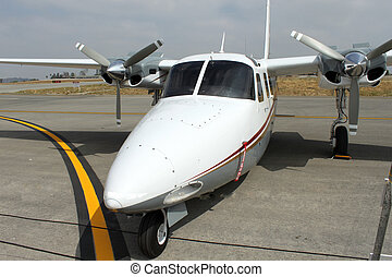 small plane parked