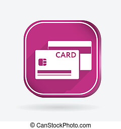 credit card.  Color square icon