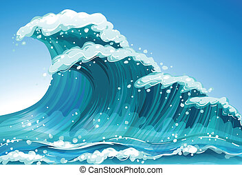 Single wave - Illustration of a single wave