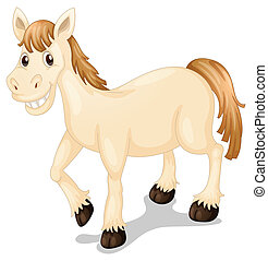 A smiling horse - Illustration of a smiling horse on a white...