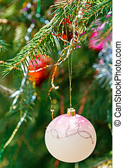 pink ball and red ball christmas decoration - pink ball and...
