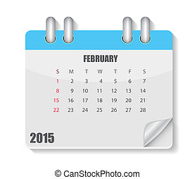 Calendar 2015 Year. Vector Illustration. Month. EPS10