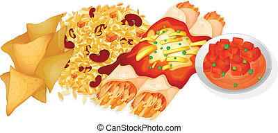 Mexican food - Illustration of mexican food