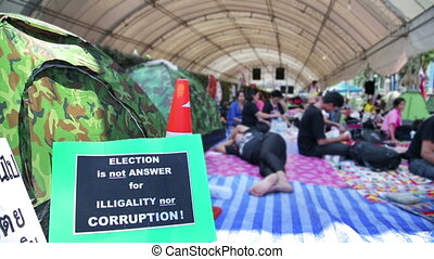 Bangkok shutdown protests, thailand