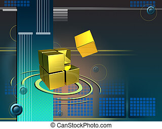 High technology - Cubes forming a larger structure in...