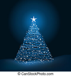 Christmas tree - Sparkly Christmas tree background
