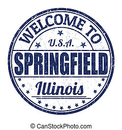 Welcome to Springfield stamp - Welcome to Springfield grunge...