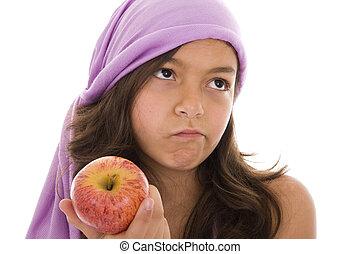 ódio, maçãs