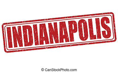 Indianapolis stamp - Indianapolis grunge rubber stamp on...