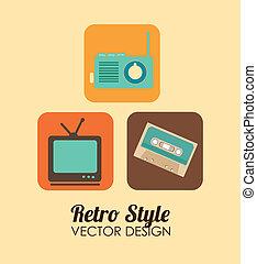 Technology design over beige background, vector illustration